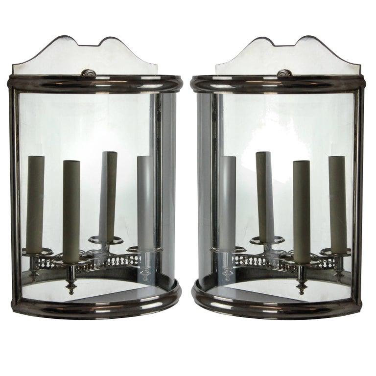 Pair of Silver Wall Lanterns