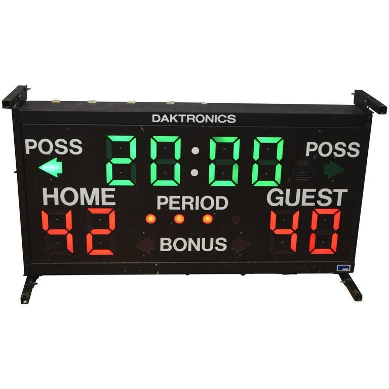 Basketball Scoreboard from Daktronics For Sale