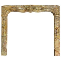 Louis XV Style Sarrancolin Framboise Marble Mantlepiece