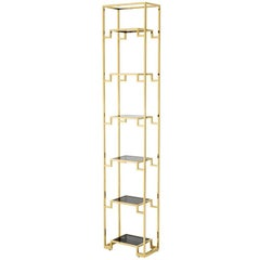 Stantord Medium Bookshelves in Gold Finish