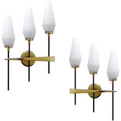 Pair Large Maison Lunel Sconces