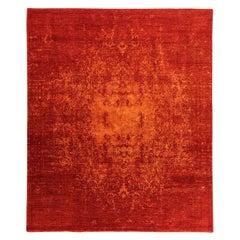 Contemporary Design Carpet in Red Tones