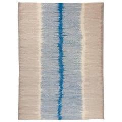 Kilim Contemporary Design Mazandarán in Shades of Blue and Gray