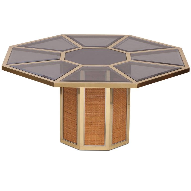 Italian Glam Octagonal Dining Table by Romeo Rega