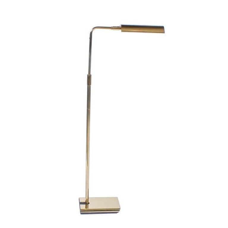 Midcentury Brass Koch and Lowy Floor Lamp 1