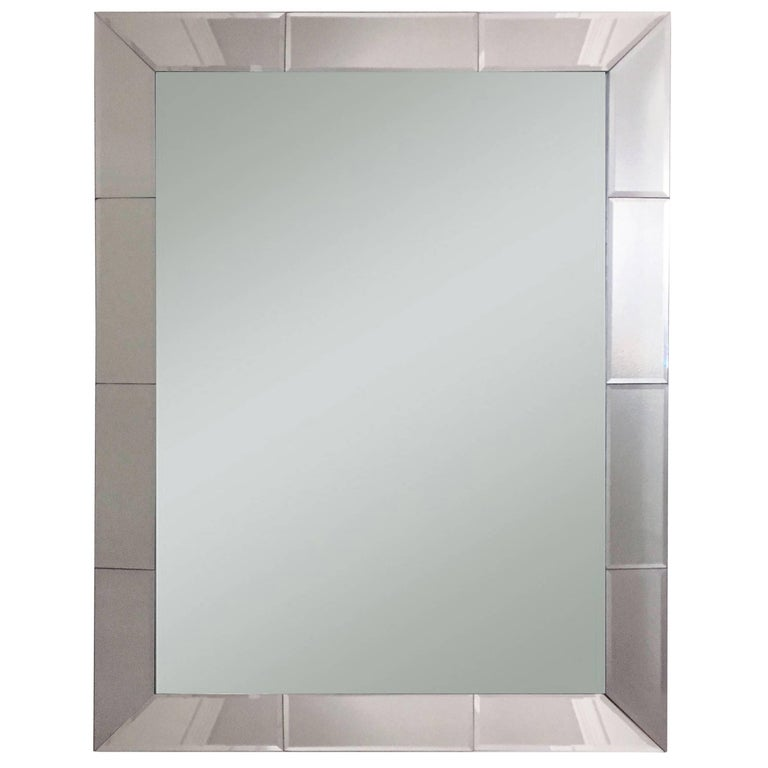 1970s Glamorous Edged Mirror with Beveled Cuts