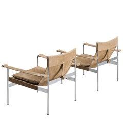 Hans Könecke Pair of Suede Sling Lounge Chairs