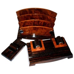 1930s French Art Deco Modernist Three-Piece Desk Set
