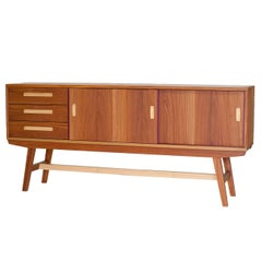 Handcrafted Credenza in Brazilian Tropical Hardwood, Contemporary Style