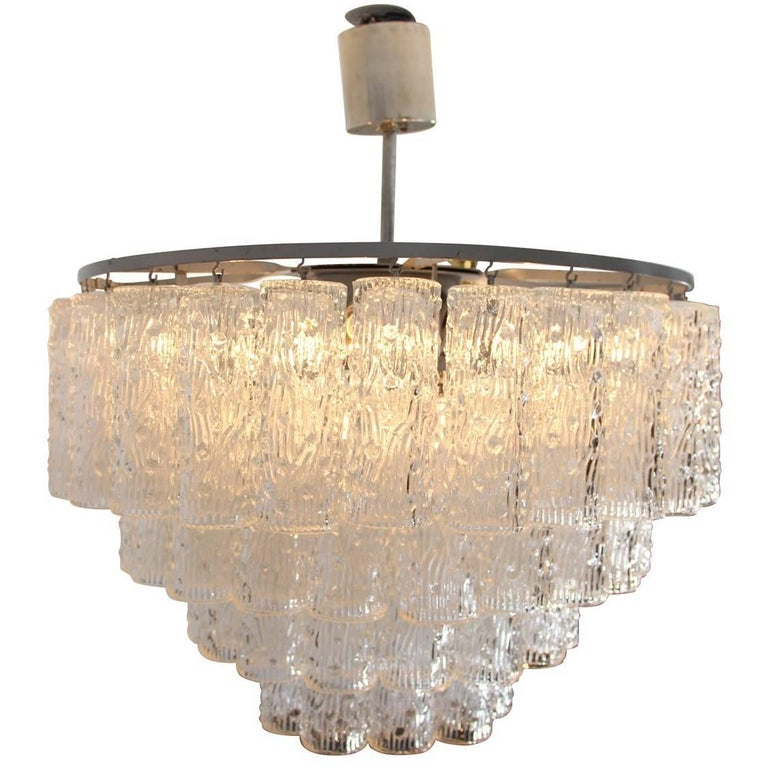 Ceiling Light in Glass by Venini, 1960s