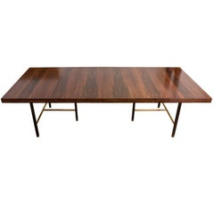 Harvey Probber Rosewood and Mahogany Dining Table