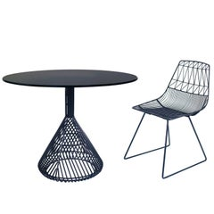 Contemporary, Sheet Metal, Four Person Bistro Table Top by Bend Goods