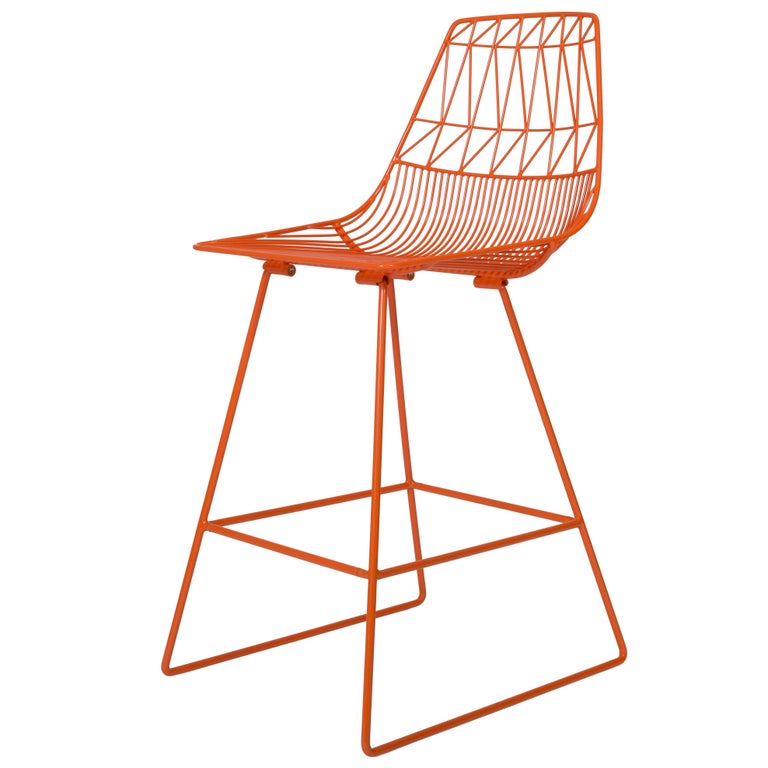 Contemporary Wire Lucy Counter Stool By Bend Goods For
