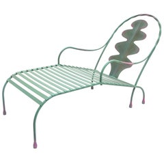 Andrea Branzi, Wrought Iron Chaise Longue, Prototype, Italy