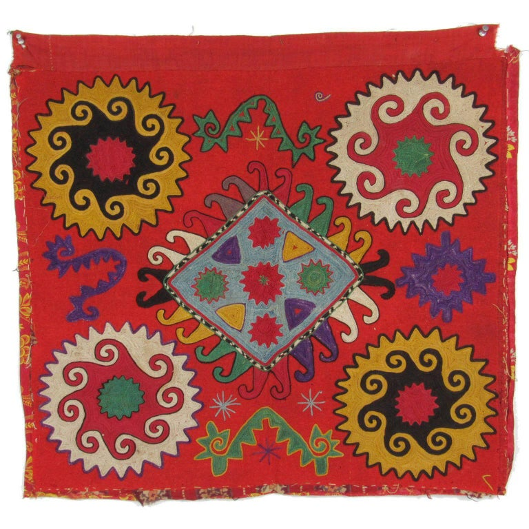Antique 19th Century Central Asian Lakai Embroidery