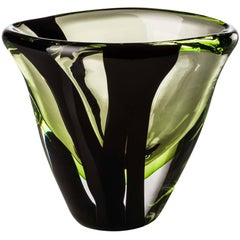 Extra-Small Ovale vase from the Black Belt Collection by Peter Marino & Venini
