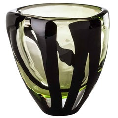 Small Ovale Vase from the Black Belt Collection by Peter Marino & Venini