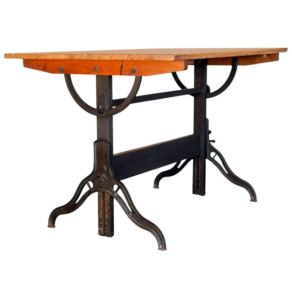 Vintage Drafting Table By Hamilton At 1stdibs