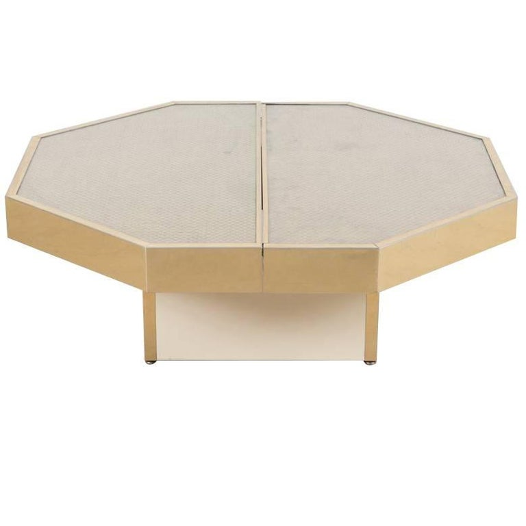 20th Century Willy Rizzo Glossy Coffee Table At 1stdibs