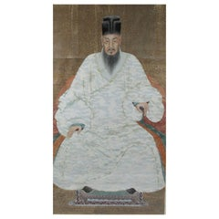 19th Century Chinese Ancestral Portrait of a Ming Official