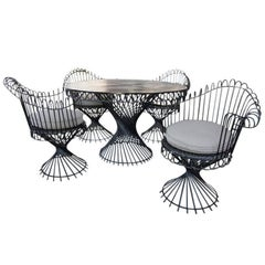 """Antheor"" Garden Furniture Set by Mathieu Mategot, circa 1950"