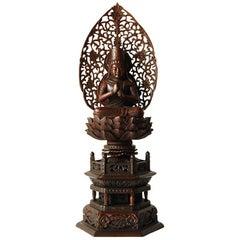 Japanese Guanyin on Lotus Throne