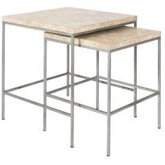 Set of Midcentury Steel Side Tables