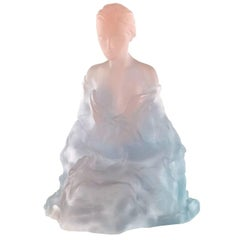 Marie-Paule Deville-Chabrolle for Daum Athena Limited Edition Crystal Sculpture