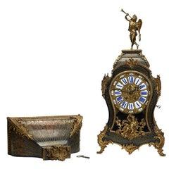 Fine Antique Louis XV Boulle Work Bracket Clock, 18th Century