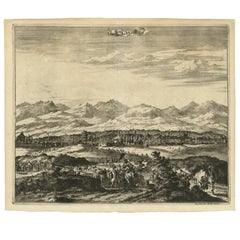 Antique Print with a View of Magnesie 'Turkey' by O. Dapper, circa 1680