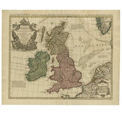 Antique Map of the British Isles by Covens & Mortier, 1730