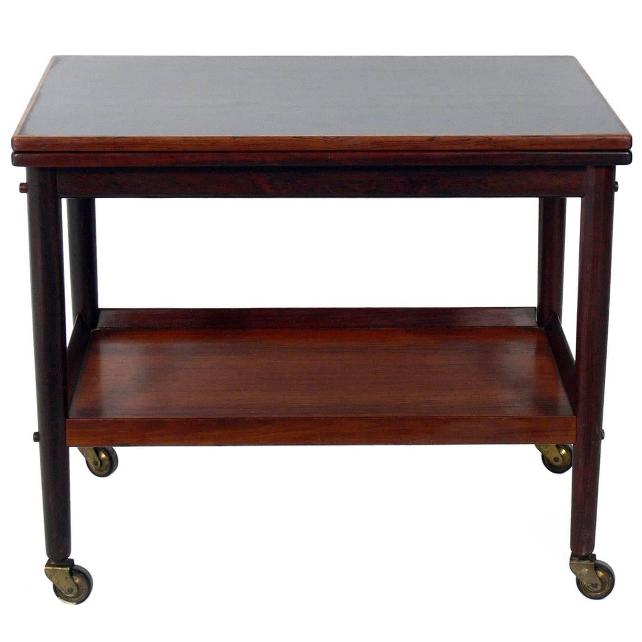 Danish Modern Flip-Top Bar Cart