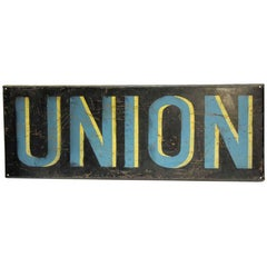 1970s French Union Wall Sign