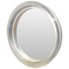 Large Round Thick Lucite Mirror