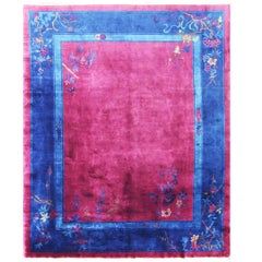 Superb Antique Art Deco Chinese Oriental Carpet