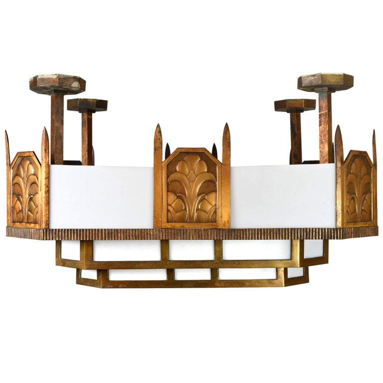 Large Art Deco Stepped Theater Light