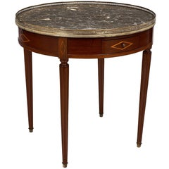 French Antique Louis XVI Style Bouillotte Table