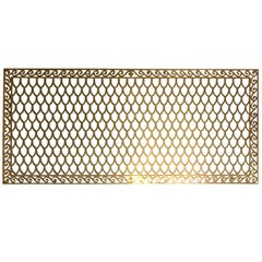 Cast Brass 'Fish Scales' Wall Grate