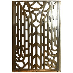 Cast Brass Art Deco Wall Grate