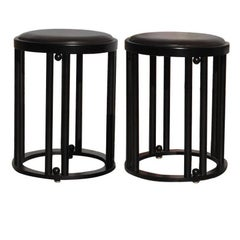 Pair of Bentwood Stool by Josef Hoffmann 1907 for Cabaret Fledermaus, Vienna