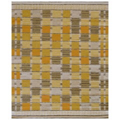 Mansour Modern Handwoven Swedish Inspired Flat-Weave Wool Rug