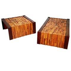 Percival Lafer Exotic Woods Coffee Tables for L'atelier De Sao Paulo, Brazil