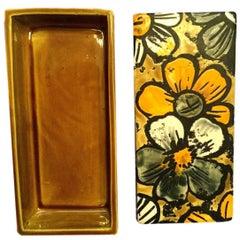 Raymor Floral Ceramic Box