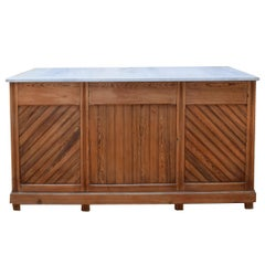 Early 20th Century, French Pine Bakery Counter