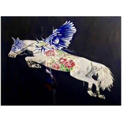 Flying Horse Oil on Canvas