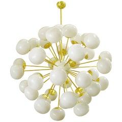 Italian Pebble Murano Glass Sputnik Chandelier