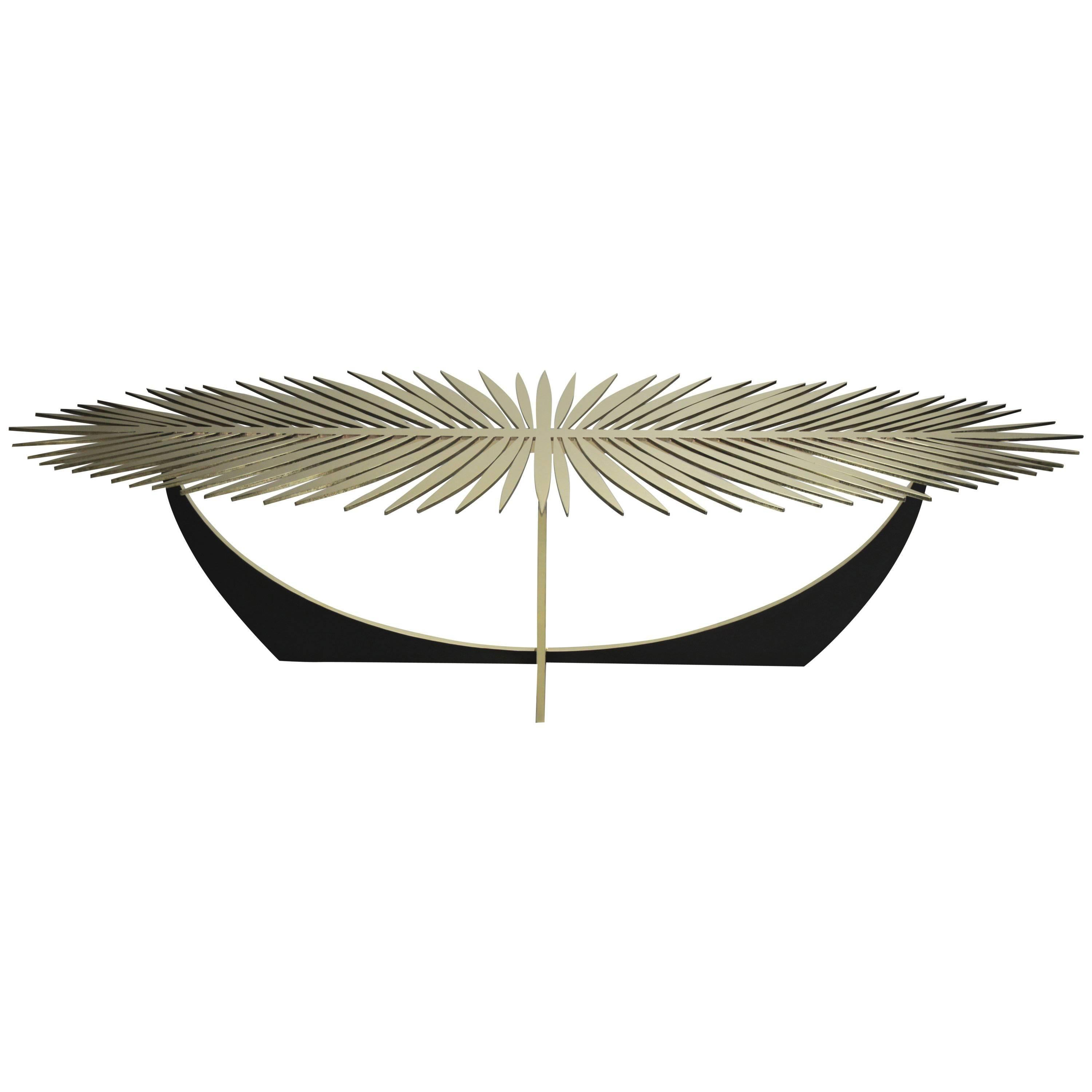 DOUBLE FROND TABLE in solid brass by Christopher Kreiling Studio