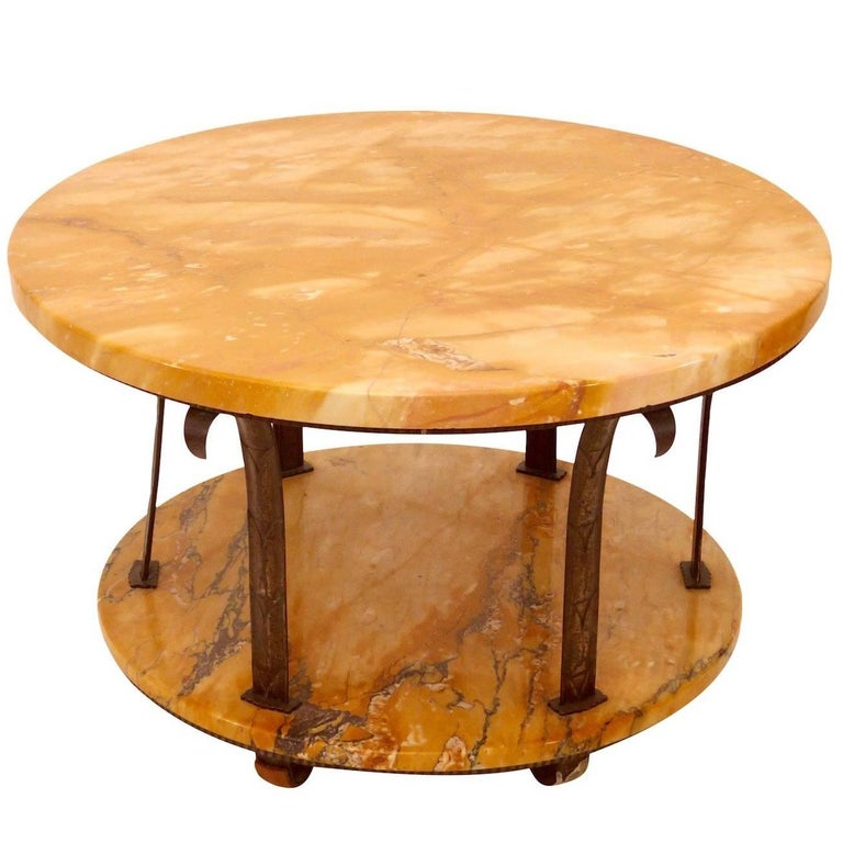 1930s Side Table by Edgar Brandt, French Art Deco