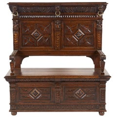 French 19th Century Hall Bench