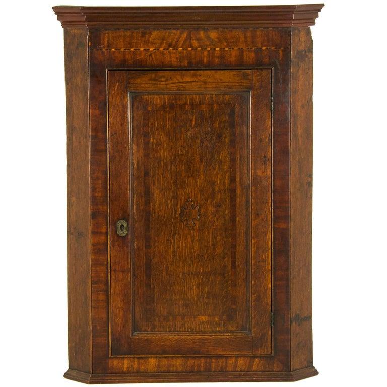 Antique Corner Cabinet Georgian Cabinet Scotland, 1790 1 - Antique Corner Cabinet Georgian Cabinet Scotland, 1790 For Sale At